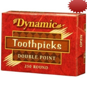 Dynamic Double Point Rounded Toothpicks, 250-Count