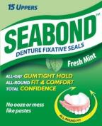 Seabond Denture Fixative Seals - Fresh Mint - 15 Uppers