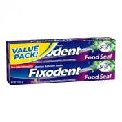 Fixodent Food Seal Plus Scope Denture Adhesive Cream Twin Pack 120ml