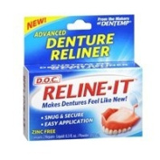 D.O.C. D.O.C. Reline-It Advanced Denture Reliner Kit, 2 each