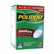 Polident Smokers Denture Cleanser, 120 ea