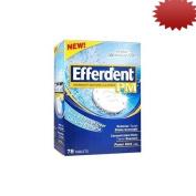 Efferdent Overnight Denture Cleanser Pm 78 Tablets Each