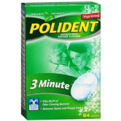 Polident 3 Minute, Antibacterial Denture Cleanser, Triple Mint Freshness 84 ea