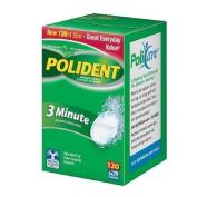 Polident 3 Minute, Antibacterial Denture Cleanser 120 ea
