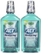 ACT Cool Splash Spearmint Restoring Anticavity Fluoride Mouthwash, 1000ml