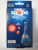 Scope Dual Blast to Go Mouthwash Icy Mint Blast 4 Bottles - 20 mL each ; Total 80 mL
