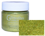 Angelus Glitterlites Flexible Glittercoat Leather Paint-1oz.-Limelite