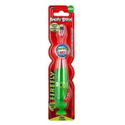 ANGRY BIRDS LIGHTUP TIMER TOOTHBRUSH GREEN PIG 1 MINUTE FLASHING SUCTION CUP