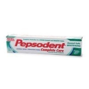 Pepsodent Complete Care Enamel Safe Toothpaste.