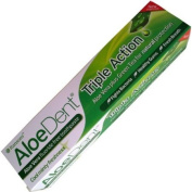 AloeDent Triple Action Aloe Vera Fluoride Free Toothpaste 100ml