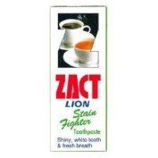 Zact Lion Stain Fighter Toothpaste for Tea & Coffee Drinkers 160 G. Thailand Product