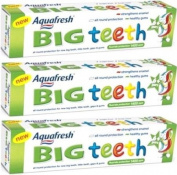 3x Aquafresh Big Teeth Toothpaste 50ml