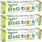 3x Aquafresh Big Teeth Toothpaste 50ml