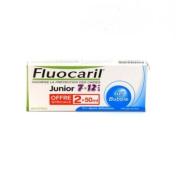 Fluocaril Junior Toothpaste 7-12 years-old 2x50ml - Flavour : Bubble Gum