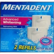 Mentadent Toothpaste Twin Refills 310ml, Advanced Whitening Refreshing Mint