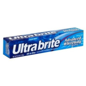 Ultra Brite Advanced Whitening Anticavity Fluoride Toothpaste, Clean Mint Flavour, 180ml .