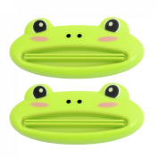 Home Green Frog Design Toothpaste Tube Squeezers Pair