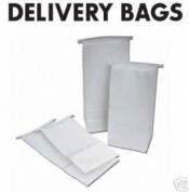 WHITE DENTAL DELIVERY BAGS BOX OF 500 BAGS WATER RESISTANT