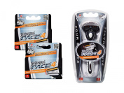 Dorco Pace 4- Four Blade Razor Shaving System- Value Pack