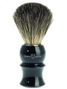 Edwin Jagger Black Plastic Handled Pure Badger Hair Shaving Brush 89p16