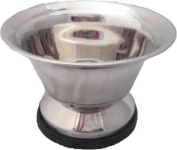 Large Stainless Steel Shaving Soap Bowl from Super Safety Razors