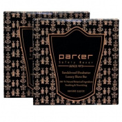TWIN PACK - Parker Safety Razor Premium Sandalwood & Ethiopian Shea Butter Shaving Soap - 100 gm bars