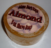 100% Natural Shaving Soap with Almond Fragrance Oil