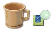 Marvy Shaving Mug Plastic Sandalwood With Kingsley Mug Soap