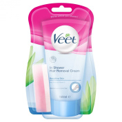 Veet In-Shower Hair Removal Cream for Sensitive Skin 5minutes 150ml