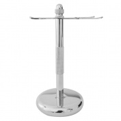 RoyalShave Chrome Safety Razor and Brush Stand