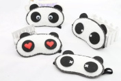 Ged 1pc Lovely Panda series Health Care Travel/office Sleep Eye Mask Eyeshade Eyepatch with Cool/Hot Pack and Acoustic earplugs as Gift