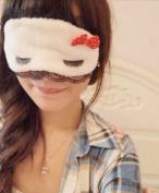 Ged Lovely bowknot eyelash ornament Health Care Travel/office Sleep Eye Mask Eyeshade Eyepatch with Acoustic earplugs as Gift