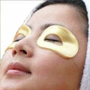 10 Masks of 24k Gold Eye Collagen Hyaluronic Acid, Vitamin B5, Vitamin E, Reduce Wrinkles and Dark Circles Around the Eye Area