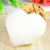 Sweetheart Shape Face Washing Cleansing Pad Sponge Natural Konjac Cosmetic Washing Puff White