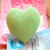 Natural Konjac Konnyaku Facial Puff Face Wash Cleansing Sponge Pad Green