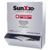 Wholesale CASE of 5 - Unimed SunX SPF30 Sunscreen Towelettes w/Dispnsr-Sunscreen Towelettes,Wall Mountable Dispenser,13cm x20cm ,50 Wipes