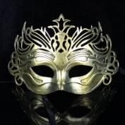 Retro Mask Carnival Mask Vintage Roman Gladiator Golden Mask By U-beauty