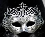 Retro Mask Carnival Mask Vintage Roman Gladiator Silver Mask By U-beauty