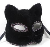 Beautifully Broadway Cat Face Mask Black Party Mask By U-beauty