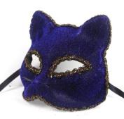 Beautifully Broadway Cat Face Mask Blue Party Mask By U-beauty