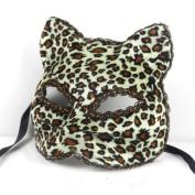 Beautifully Broadway Cat Face Mask Leopard Party Mask By U-beauty