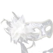 Charming Beads Channelling Party White Lily Mask Prom Translucent Mask By U-Beauty