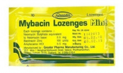 5x Mybacin Lozenges Mint Relief Sore Throat