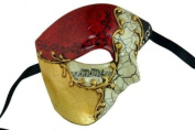 Venetian Mask Exclusive w/ RED Musical Half Face Mask Men's Masquerade Mask
