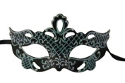 Classic Vintage Swan Venetian Style Laser Cut Masquerade Mask - Decorated with Glitter