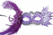 Feathers and Leaves Collection Masquerade Mask - Violet/Purple