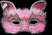 FOX Design Venetian Inspired Laser Cut Masquerade Mask, Elegantly Crafted- Vibrant Pink