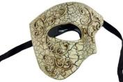 Laser Cut Venetian Halloween Masquerade Mask Costume Extravagant and Elegant Finely Detailed Phamtom Inspired - Silver Lining