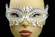 Laser Cut Venetian Masquerade Mask Costume Lover Swan Inspire Designs - White Colour