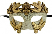 NEW Laser Cut Venetian Style Halloween Masquerade Mask for Costumes - Elegantly and Finely Detailed Egyptian Inspired- Gold Lining